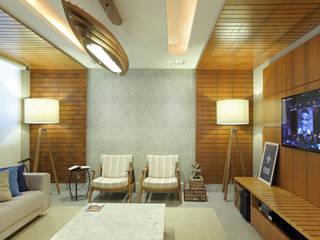 Modern Oturma Odası Rafael Mirza Arquitetura Modern