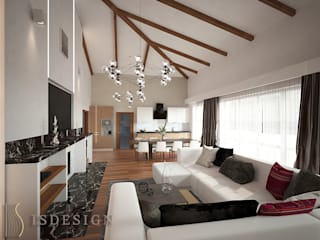 ISDesign group s.r.o. Eclectic style living room