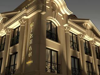 Mirhan Hotel Precast Cephe ve Wallwasher Led Aydınlatma Projesi Klasik Evler KK Creative Works Klasik
