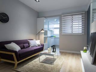 Livings de estilo minimalista de 宅即變空間微整形 Minimalista