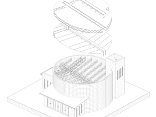 Axo metric exploded drawing:   by A4AC Architects