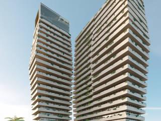 Olympic Towers Espaços comerciais modernos por Meireles Arquitectos Moderno