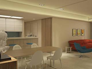 幸運草 現代風玄關、走廊與階梯 根據 宇喆室內裝修設計有限公司 現代風
