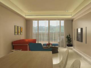 幸運草 现代客厅設計點子、靈感 & 圖片 根據 宇喆室內裝修設計有限公司 現代風