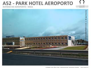 A52 - Park Hotel Porto Aeroporto: Hotéis  por JOSÉ CASTRO SILVA | Arquitectos,Moderno