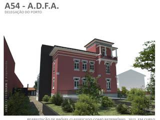 A54 - Remodelação e Ampliação das instalações da A.D.F.A. - Associação dos Deficientes das Forças Armadas, Delegação do Porto: Escritórios e Espaços de trabalho  por JOSÉ CASTRO SILVA | Arquitectos,Clássico