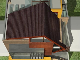 Alfaiz Design Tropical style houses Bricks Brown
