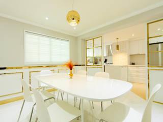 화이트 인테리어 White Interior 모던스타일 다이닝 룸 by 골방디자인 모던