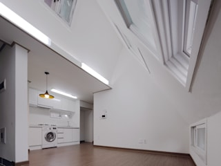 상수동 다가구주택 모던스타일 거실 by 디자인 인사이트 (DESIGN INSITE) 모던