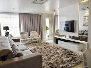 Projeto de interiores: Salas de estar  por dm arquitetura e interiores - Dayane e Marina Chemin,