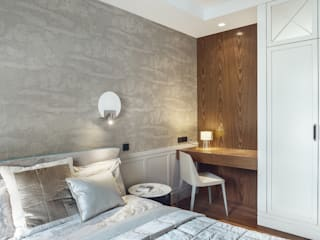 Sopot 2016 Minimalistyczna sypialnia od JT GRUPA Minimalistyczny