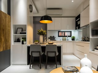 餐廚區 Eclectic style dining room by 存果空間設計有限公司 Eclectic