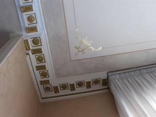Decorazione d'interni Colori nel Tempo - decorazioni pittoriche Soggiorno classico Argento / Oro Ambra/Oro