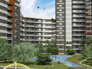 4M Mimarlık – Akadia Modern Konutları: modern tarz Evler