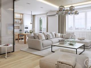 Salones de estilo minimalista de 'Студия дизайна Марины Кутеповой' Minimalista