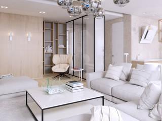 Salas de estilo minimalista de 'Студия дизайна Марины Кутеповой' Minimalista