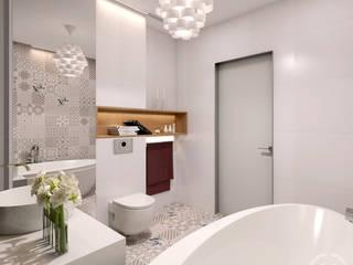 Baños de estilo minimalista de 'Студия дизайна Марины Кутеповой' Minimalista
