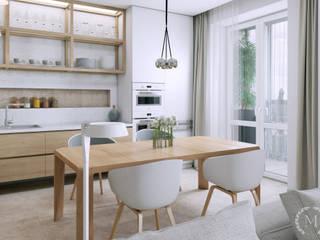 Cocinas de estilo minimalista de 'Студия дизайна Марины Кутеповой' Minimalista