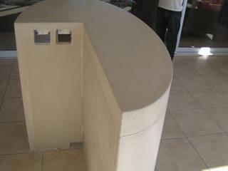 Van Niekerk bar counter under construction: modern Dining room by Stoneform Concrete Studios