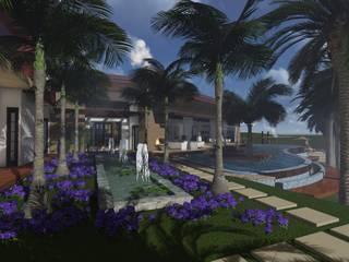 CASA FM: Jardines de estilo  por Leo Velandia Arquitectos