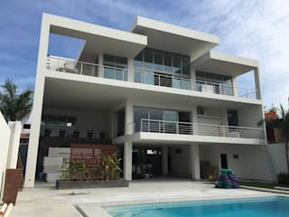 ARQUITECURA MEXICANA Casas de estilo minimalista Concreto Blanco