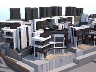 秀岡山莊 現代房屋設計點子、靈感 & 圖片 根據 行一建築 _ Yuan Architects 現代風