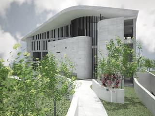三代匯居 現代房屋設計點子、靈感 & 圖片 根據 行一建築 _ Yuan Architects 現代風