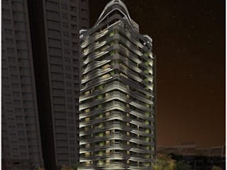 拂風之家 現代房屋設計點子、靈感 & 圖片 根據 行一建築 _ Yuan Architects 現代風