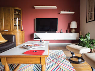 Couleur pour un appartement contemporain Salon moderne par Mint Design Moderne
