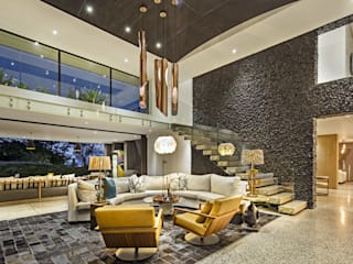 House Umhlanga:  Living room by Ferguson Architects
