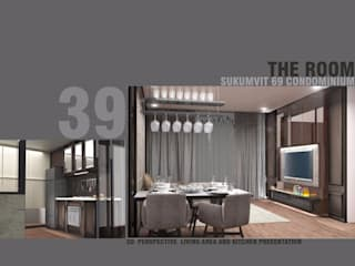 Future Interior Design Co.,Ltd. Ruang Keluarga Gaya Eklektik