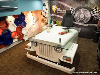 The Complete Car Care (car garage studio):  Garage/shed by Sollace Designz