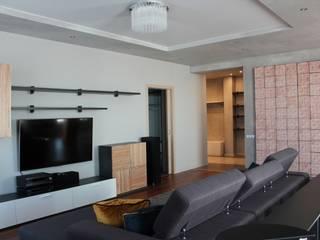 Дом на Орлиной: Гостиная в . Автор – Мастерская дизайна Екатерины Меркель,