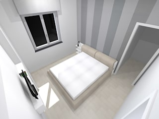 Veduta Foto-Realistica della camera da Letto: Camera da letto in stile in stile Moderno di Studio Tecnico Resta e Associati