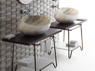 Italian made Luxury Stone Wash Basin :   por Stoneceramic, Lda