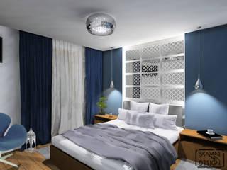 SYPIALNIA Z MAROKAŃSKIM AKCENTEM Nowoczesna sypialnia od SKAZANI NA DESIGN Studio Architektury Nowoczesny