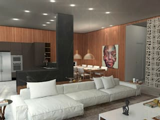 Residência 24B Salas de estar modernas por Plurale Arquitetura Moderno