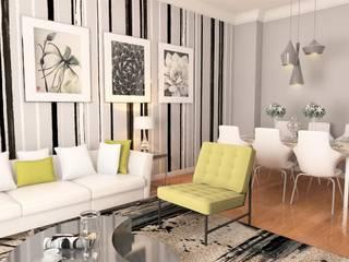 BGC Yunuseli Toki / Bursa Modern Oturma Odası GEKADESIGN Modern