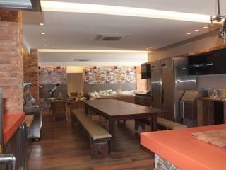Residência: Salas de jantar  por DHN arquitetura,Rústico