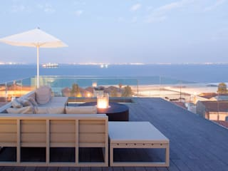 Balcon, Veranda & Terrasse modernes par IMPORCHAMA, FOGÕES DE SALA LDª Moderne