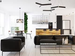 Projekt mieszkania deweloperskiego ul. Bruzdowa Warszawa: styl , w kategorii  zaprojektowany przez TETE concept,