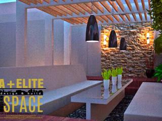 Pineda Residence Mediterranean style garden by A+Elite Mediterranean