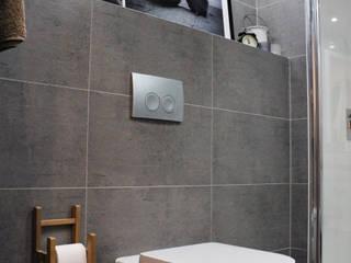 Łazienka w szarościach.: styl , w kategorii Łazienka zaprojektowany przez TETE concept,