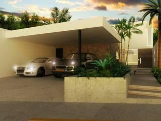 Fachada: Casas de estilo minimalista por Gamboa Arquitectos