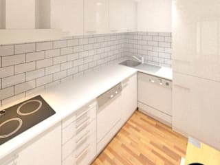Conversão de cave em Apartamento: Cozinhas  por André Terleira - Arquitectura e Construção