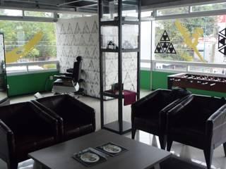 Barbería Don Porfirio: Espacios comerciales de estilo  por Baam Arquitectura