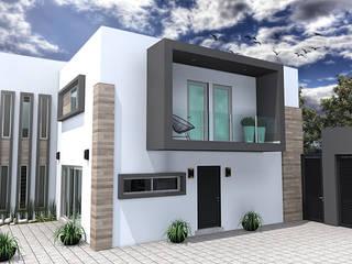 EXTERIOR 2: Casas de estilo moderno por Residenza by Diego Bibbiani