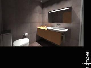 Minimalist bathroom by Linhas Simples Minimalist