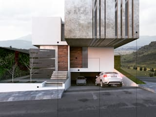 Flown House: Casas de estilo  por AS. ARQUITECTOS