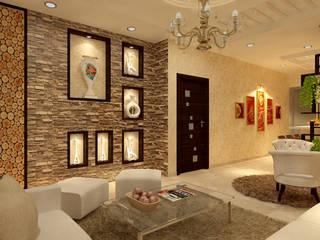 Projekty,  Salon zaprojektowane przez MAD DESIGN